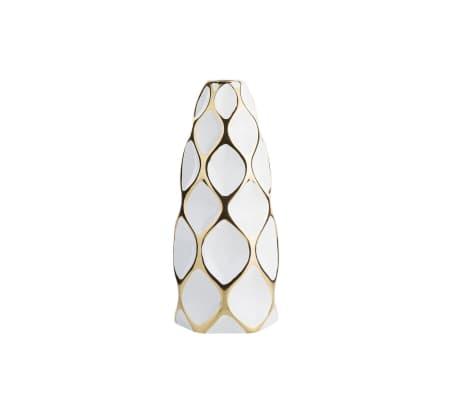 Vase en céramique blanche AVILA[1/10]