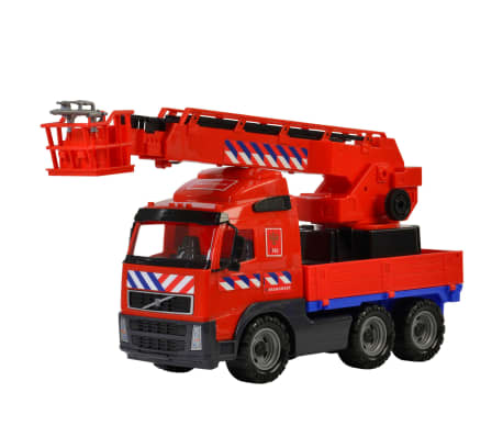 Polesie Camión de bomberos de juguete Volvo rojo