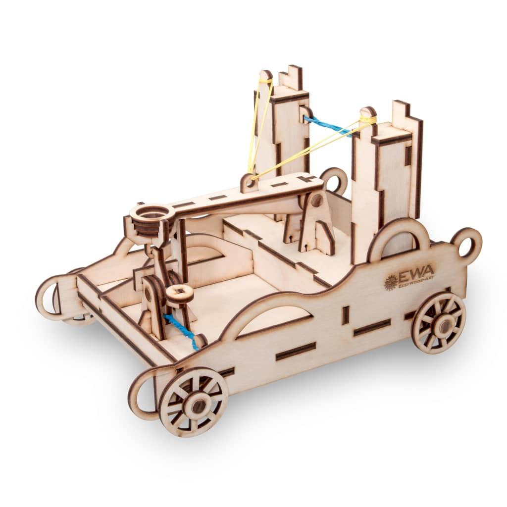 Eco-Wood-Art 55-tlg. Modellbausatz Ballista Holz