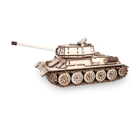 Eco-Wood-Art Kit de maquette 600 pcs T-34 Tank Bois[3/11]