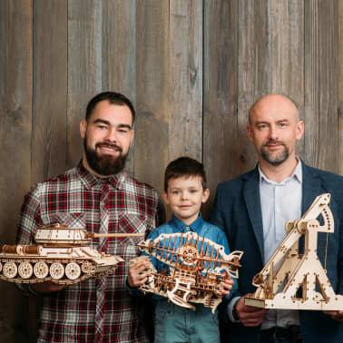 Eco-Wood-Art Kit de maquette 600 pcs T-34 Tank Bois[11/11]