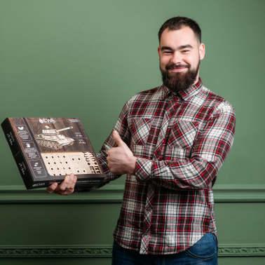 Eco-Wood-Art Kit de maquette 600 pcs T-34 Tank Bois[10/11]