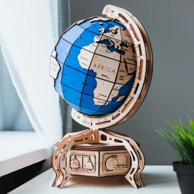 Eco-Wood-Art 393-częściowy, drewniany zestaw modelarski Globus[5/15]