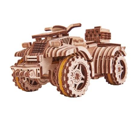 Eco-Wood-Art Byggmodell i trä fyrhjuling