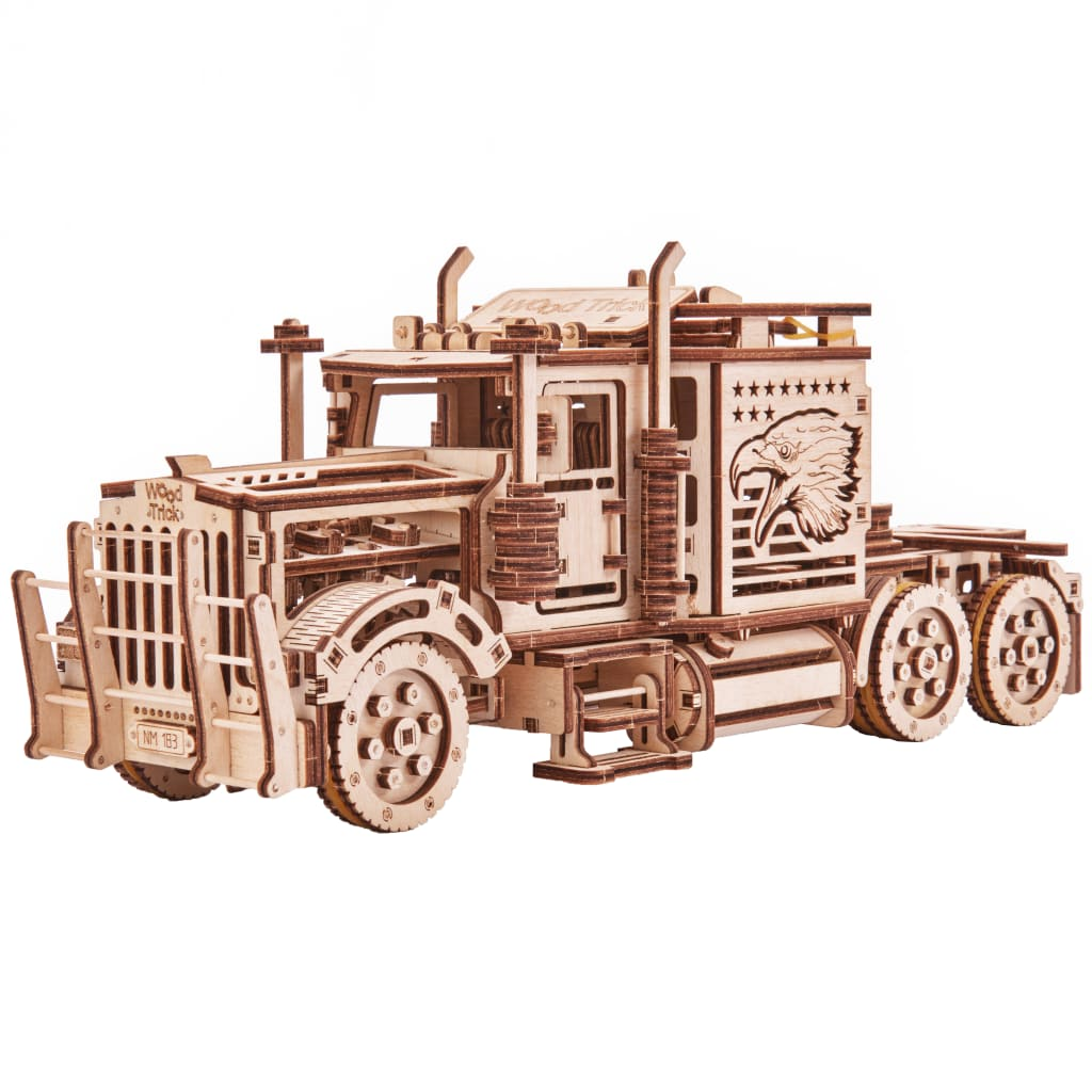 Wood Trick Kit machetă de camion mare, lemn vidaxl.ro