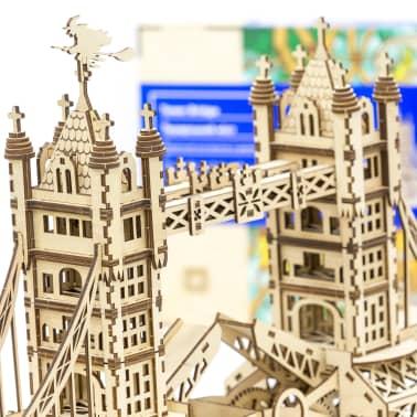 Mr. PlayWood Kit de maquette Pont de la tour Bois 312 pcs[2/8]