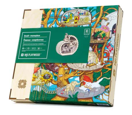Mr. PlayWood Kit de maquette Tirelire d'escargot Bois 83 pcs[8/8]