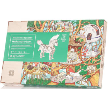 Mr. PlayWood Kit de maquette Licorne Bois 156 pcs[8/8]