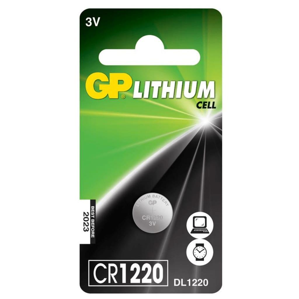 GP Batteries Knopfzelle CR1220 3V lituim