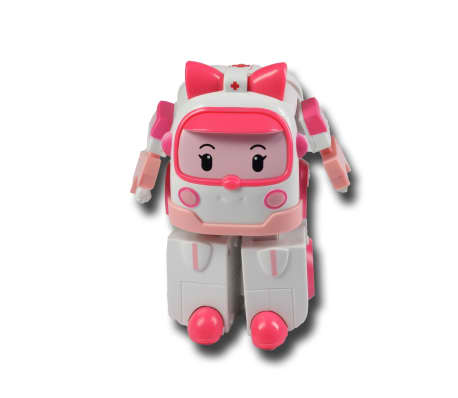 Silverlit Transformerend speelgoed Robocar Poli Amber roze SL83172