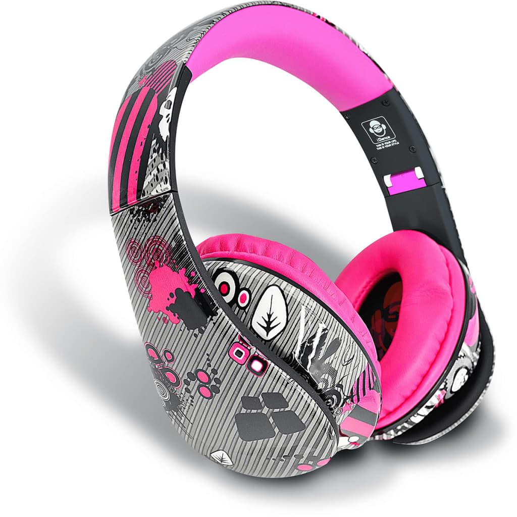 Afbeelding van iDance Koptelefoon Ibiza204 roze IDAN352012
