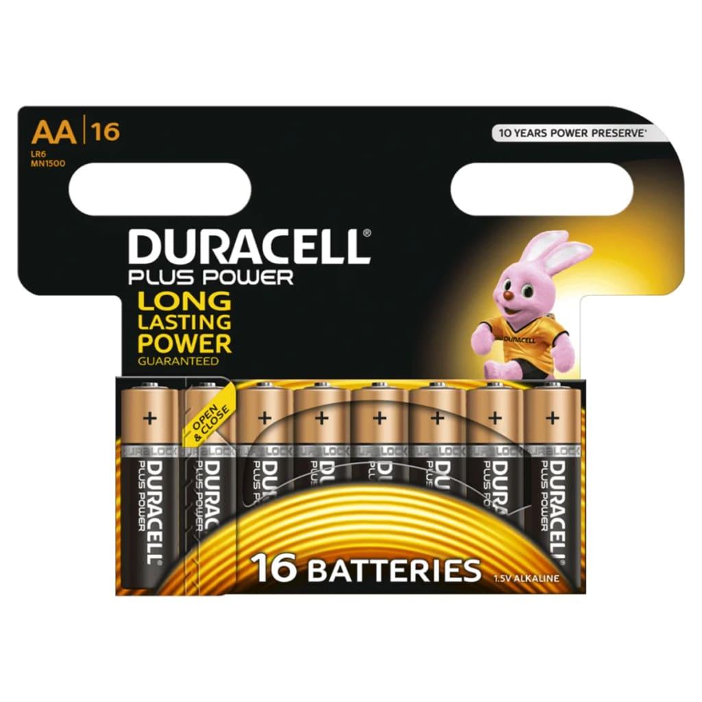 Afbeelding van Duracell Alkaline batterijen AA Plus Power 16 st