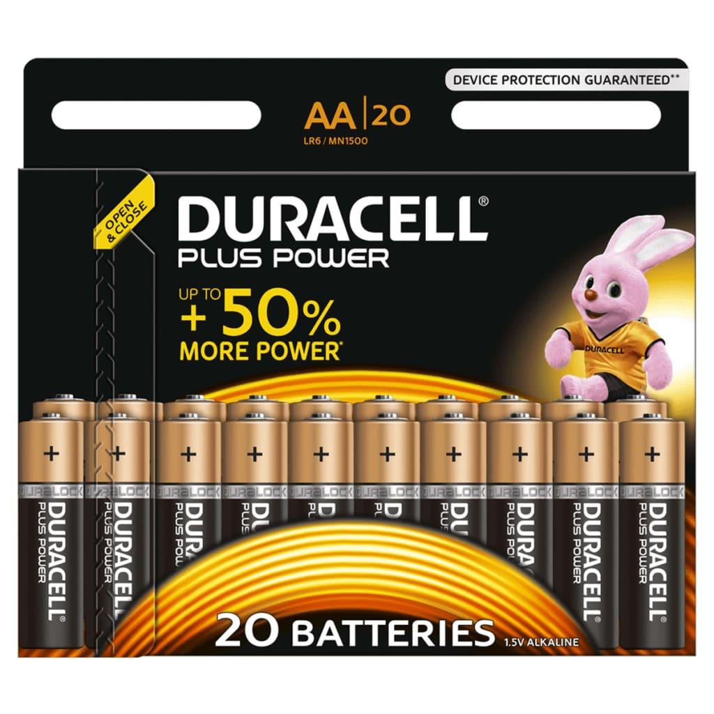 Afbeelding van Duracell Alkaline batterijen AA Plus Power 20 st.