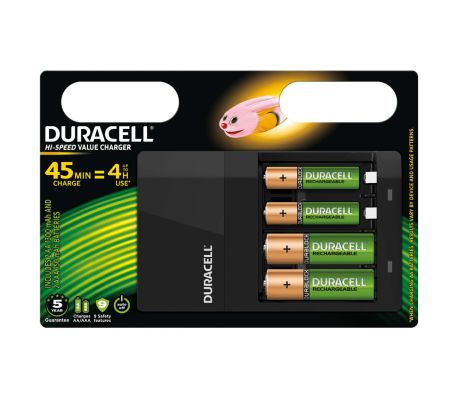 Duracell Batteriladdare Hi-Speed 45 min CEF14[1/2]