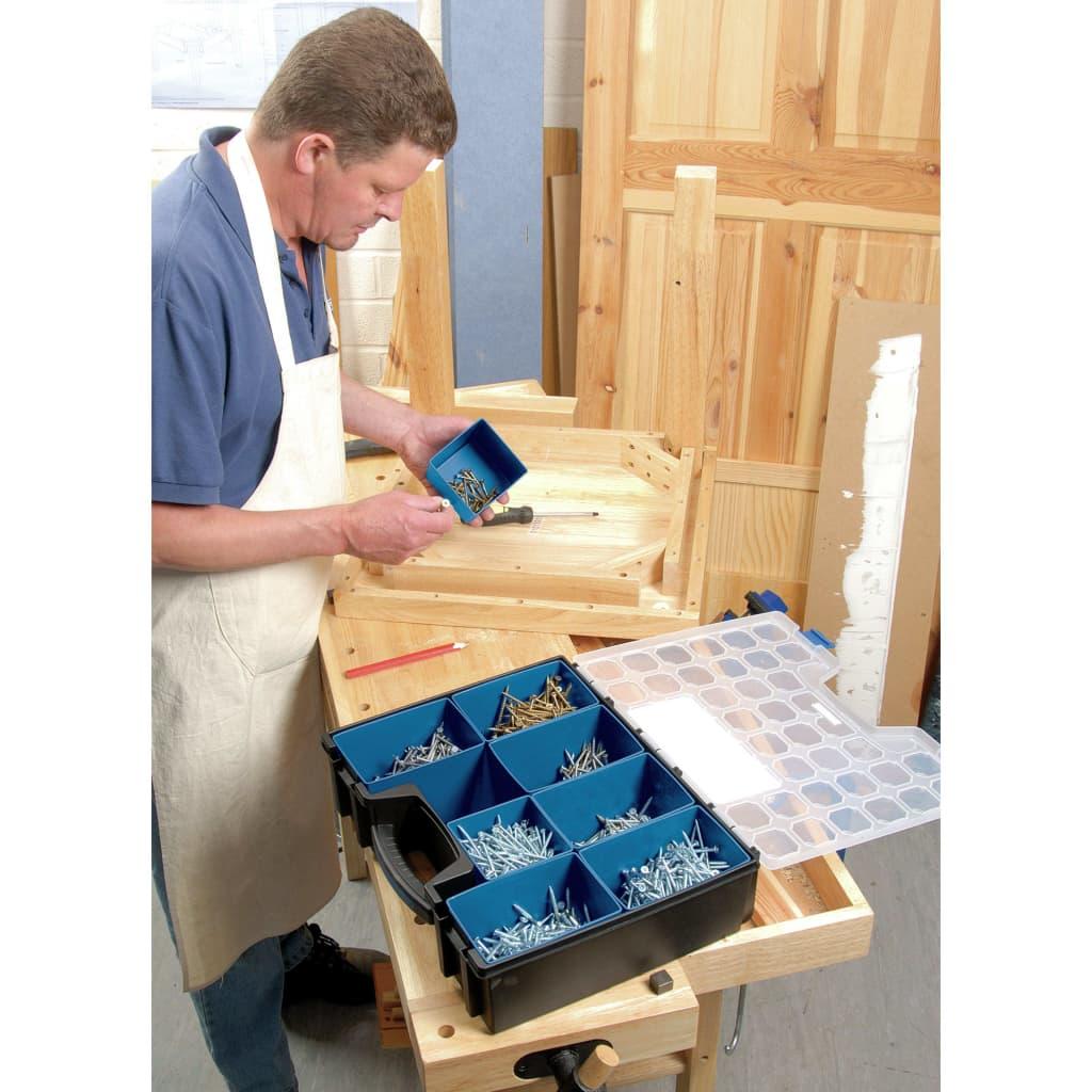 Draper Tools 8-delige Organizer met vakken 41,5x33x11 cm zwart