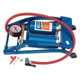 Draper Tools Doppelzylinder-Fußpumpe Blau 25996