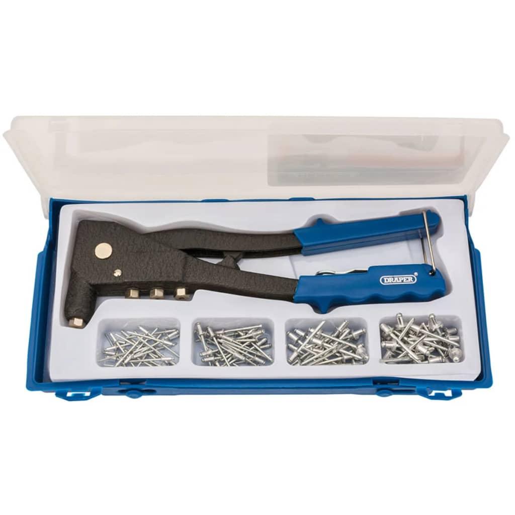 Afbeelding van Draper Tools Klinknagel pistool set blauw 27843