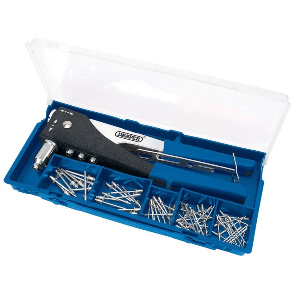 Afbeelding van Draper Tools Dubbele klinknageltang set blauw 27848