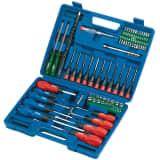 Draper Tools Schraubendreher, Steck- und Bitschlüsselsatz 70-tlg 40850