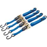Draper Tools Set de correas de amarre trinquete 4 uds 250 kg 60965