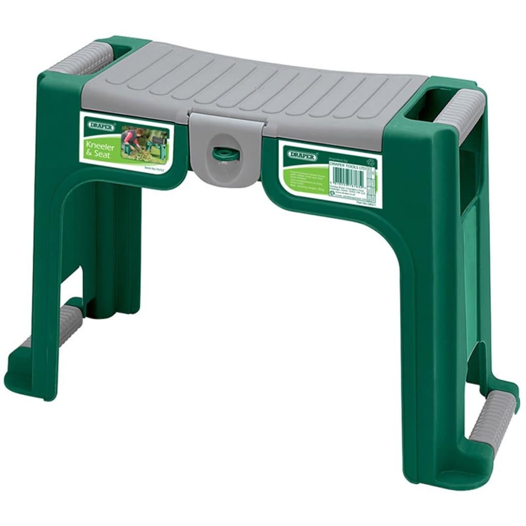 Draper Tools Scaun de grădinărit și suport, verde, 76763 vidaxl.ro