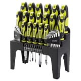 Draper Tools 44 Piece Screwdriver, Hex Key, and Bit Set Green 78619
