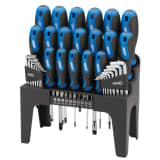 Draper Tools 44 Piece Screwdriver, Hex Key, and Bit Set Blue 81294