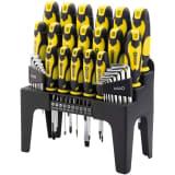 Draper Tools 44 Piece Screwdriver, Hex Key and Bit Set Yellow 82832