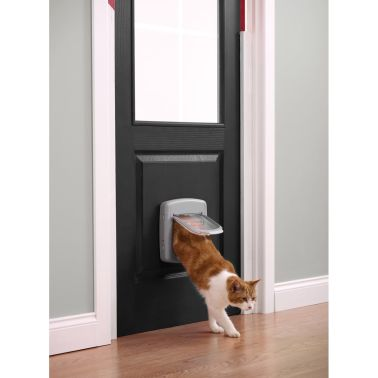 PetSafe Manual 4-Way Cat Flap Deluxe 340 Grey 5004[3/4]