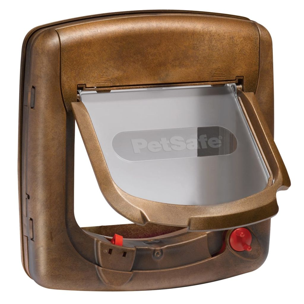 Afbeelding van PetSafe Kattenluik magnetisch met 4 standen Deluxe 420 bruin 5006