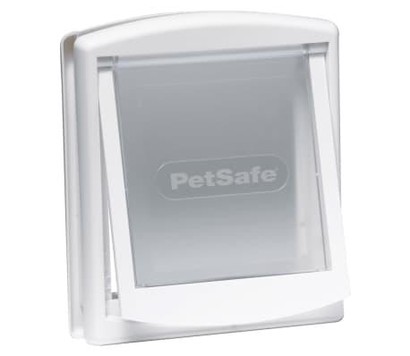 PetSafe Puerta mascotas 2 posiciones 715 pequeña 17,8x15,2 blanco 5017