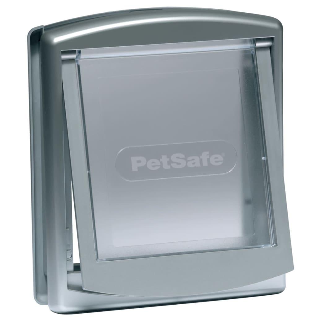 Afbeelding van PetSafe Huisdierenluik in 2 richtingen 737 small 17,8 x 15,2 cm zilver 5019