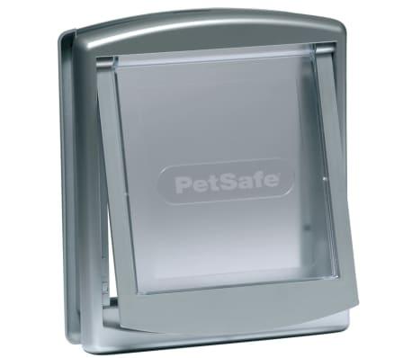 PetSafe Puerta mascotas 2-vías 737 pequeña 17,8x15,2 plateado 5019