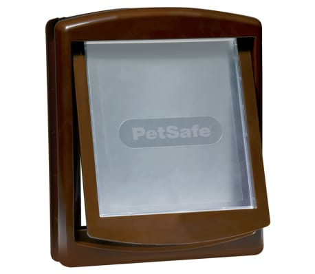 PetSafe Puerta mascotas 2-vías 755 mediana 26,7x22,8 marrón 5021
