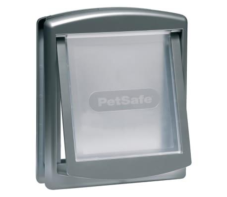 PetSafe Porte à 2 voies pour chiens 757 Medium 26,7 x 22,8 cm Argenté