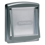 PetSafe 2- veis kjæledyrdør 757 mellomstor 26,7x22,8 cm sølv 5022