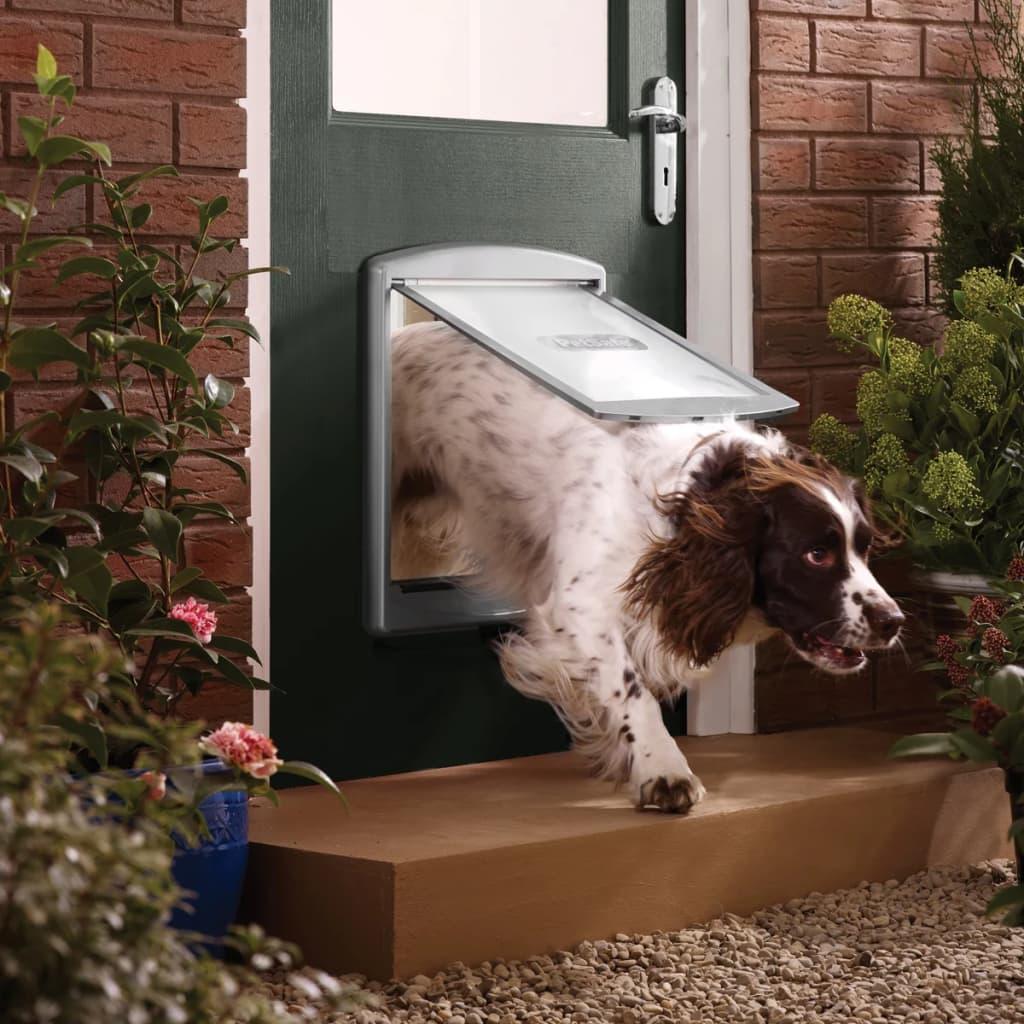 PetSafe Huisdierenluik in 2 richtingen 777 large 35,6 x 30,5 cm zilver 5025