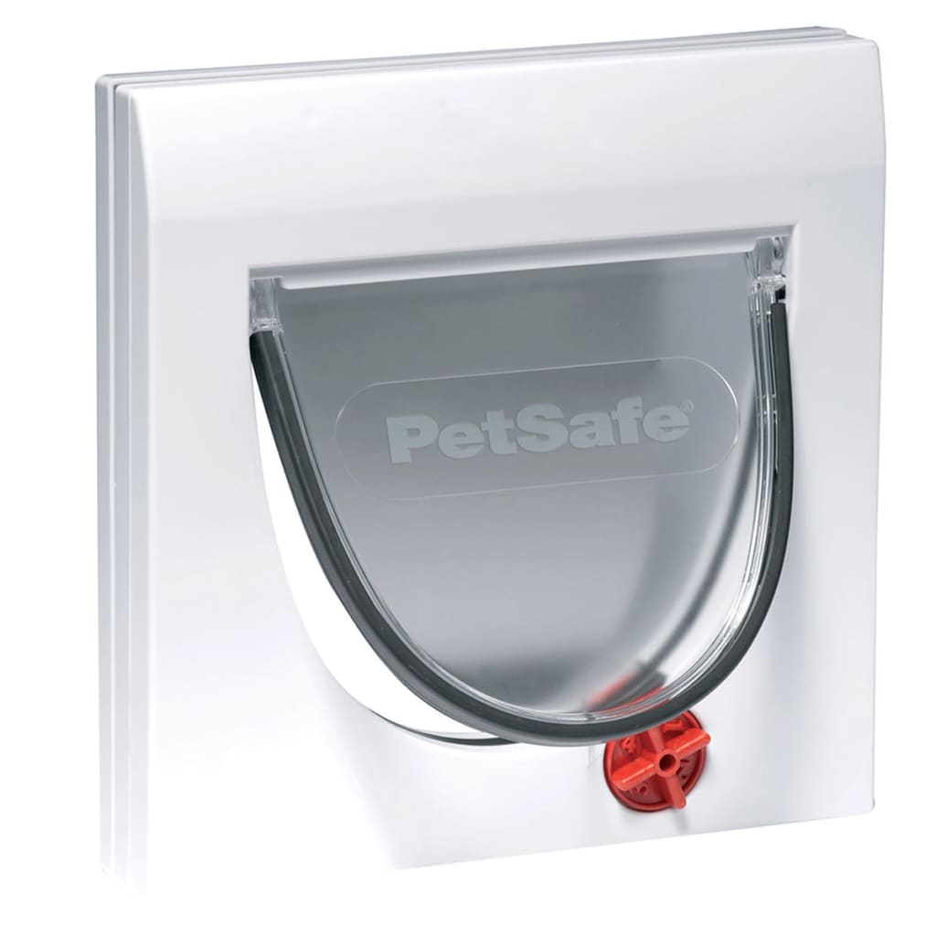 Afbeelding van PetSafe Handmatig kattenluik met 4 standen en tunnel Classic 917 wit 5030