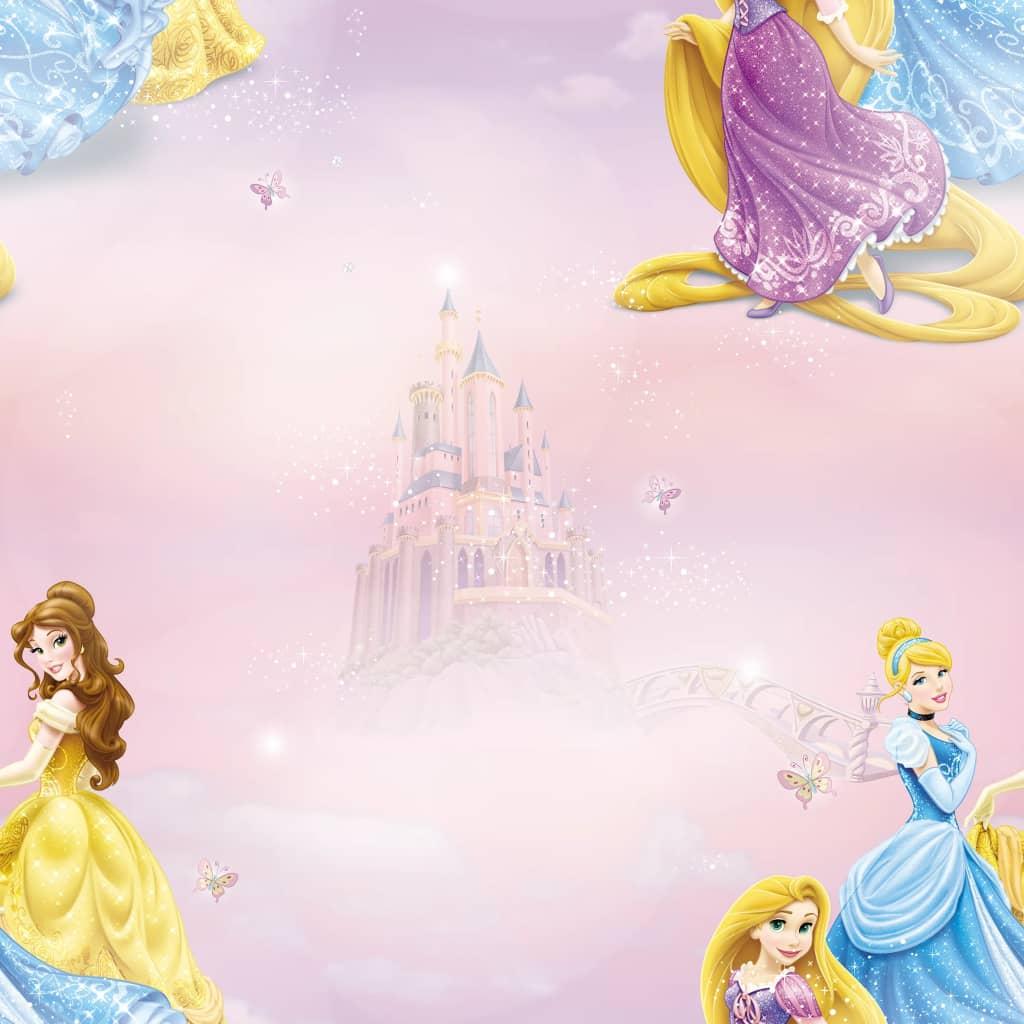 Kids at Home tapet Pretty as A Princess pink og blå