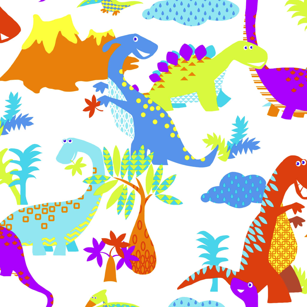 Kids at Home Tapet Dinosaur, multicolor, 100116 imagine vidaxl.ro