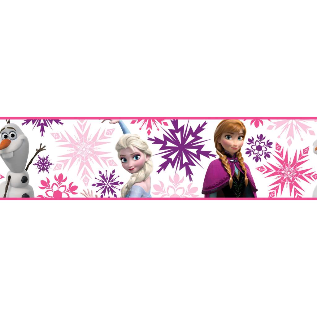 Kids at Home Bordură tapet Frozen, alb și roz vidaxl.ro