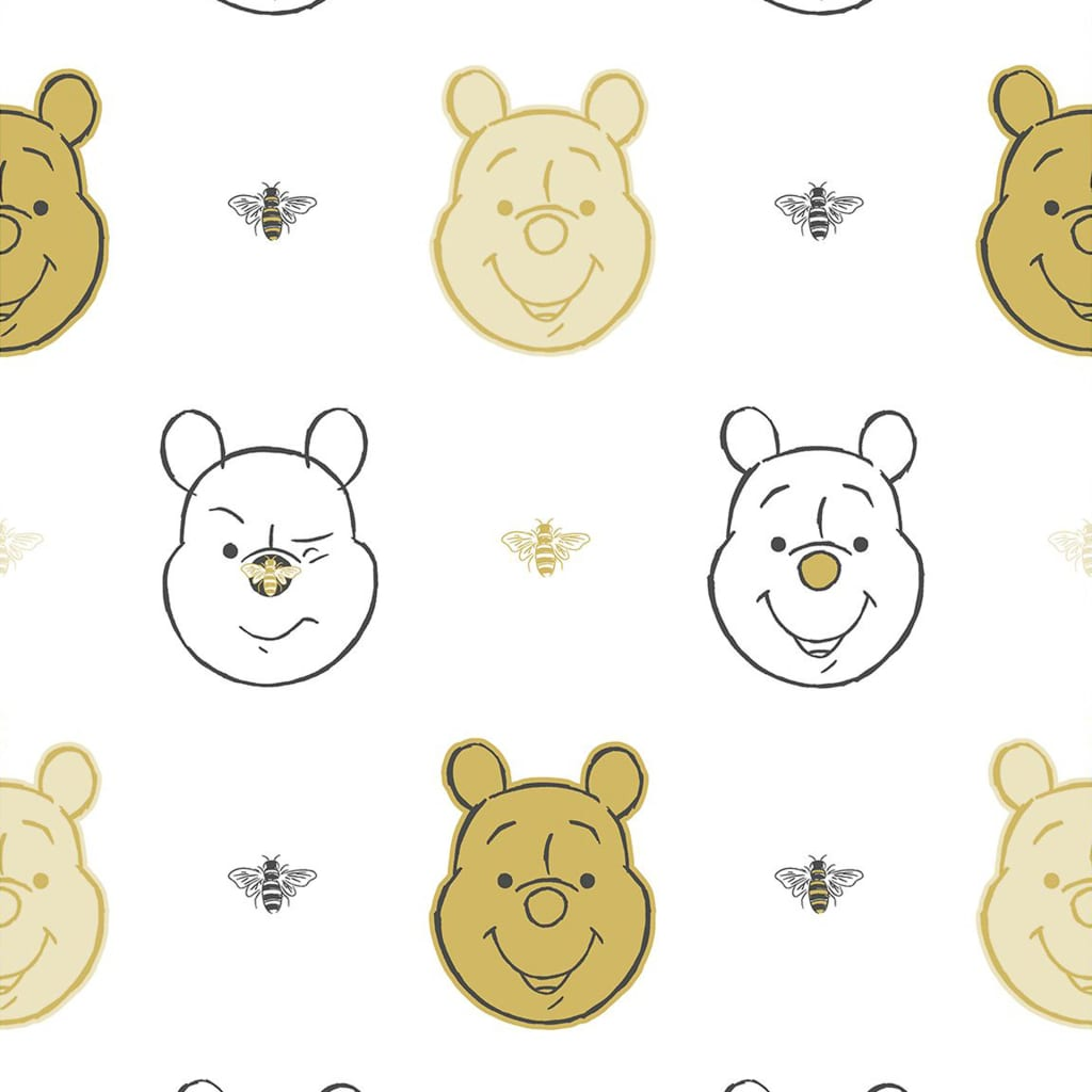 Kids at Home tapet Bee Winnie the Pooh hvid