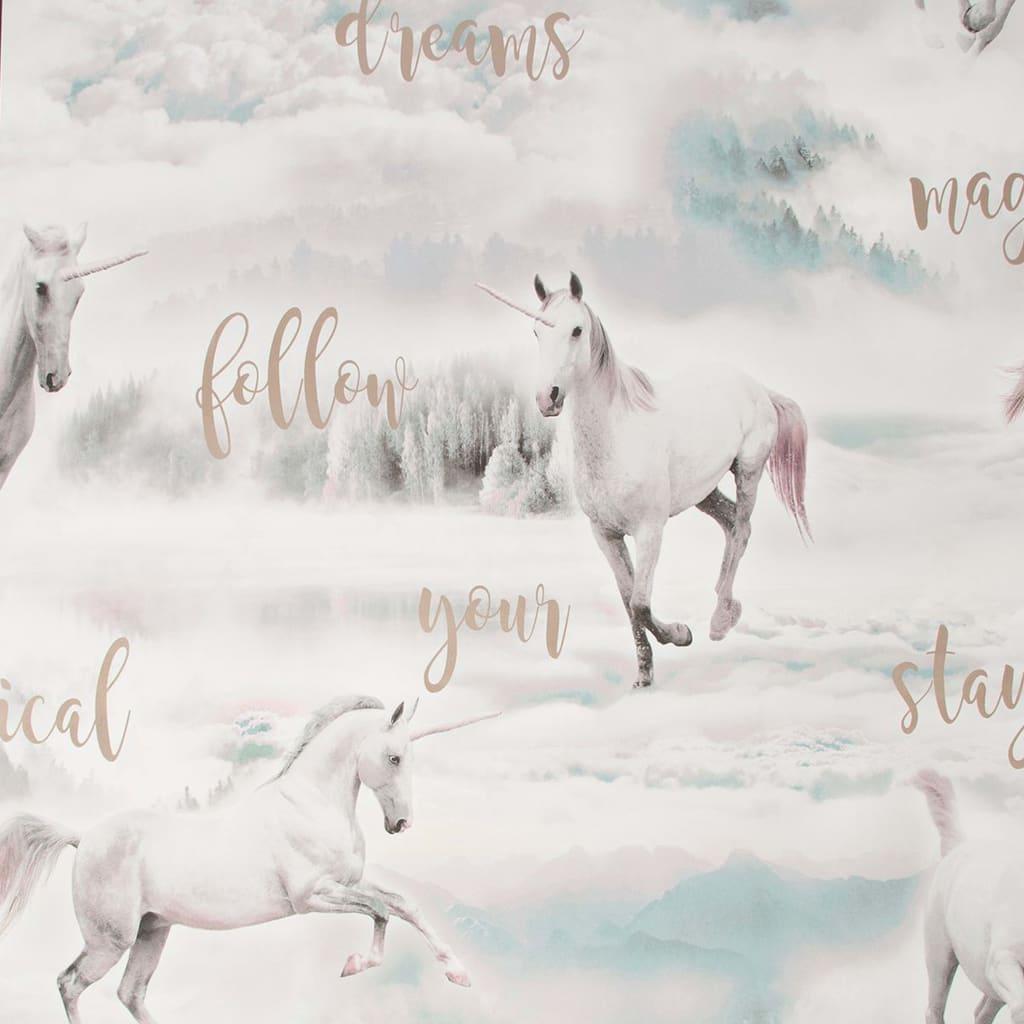 Kids at Home tapet Unicorn Dreamland grå
