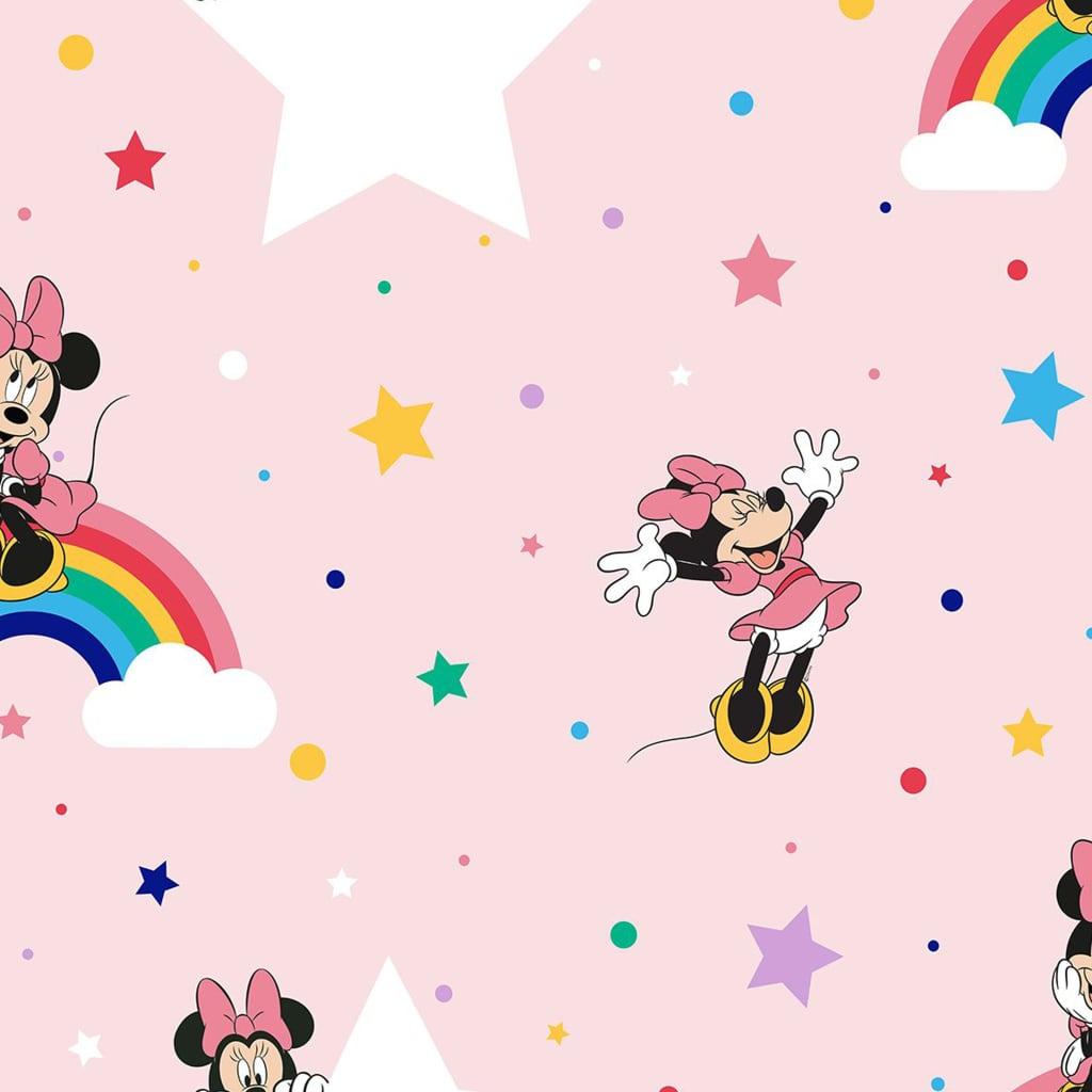 Kids at Home tapet Rainbow Minnie pink