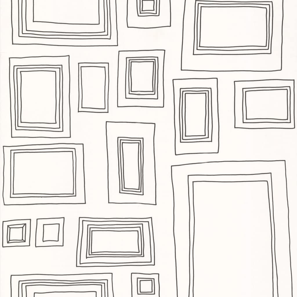 Kids at Home Tapet Frames, alb și negru, 52050 KIDS vidaxl.ro