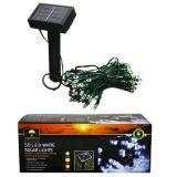 50 LED Outdoor Garden Remote Control Solar Fairy Lights - White