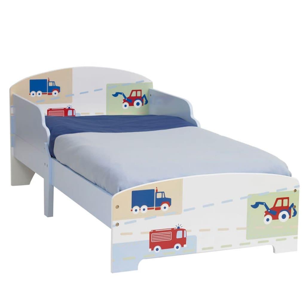 Worlds Apart Cama infantil de camiones y tractores blanca WORL230006
