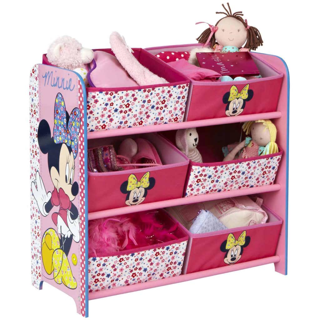 Afbeelding van Disney Opbergdoos met 6 bakken Minnie Mouse 64x30x60 cm roze OPBE119100