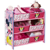 Disney Minnie Mouse reol med 6 opbevaringskasser 64x30x60 cm pink OPBE119100