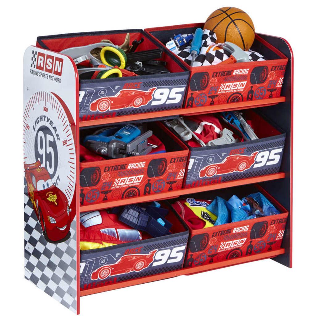Afbeelding van Disney Kinderopbergmeubel Cars karmijnrood 63x43x60 cm WORL320011